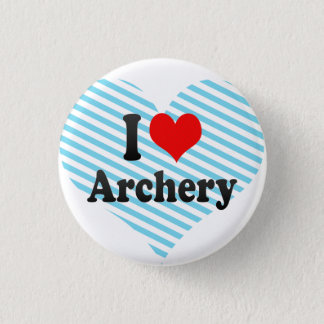 I love Archery 3 Cm Round Badge