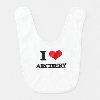 I Love Archery Baby Bibs