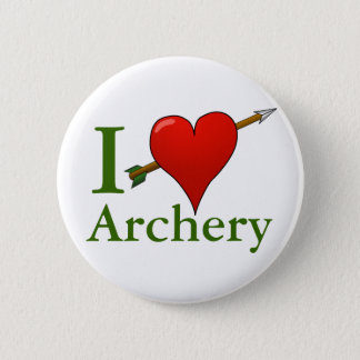 I Love Archery Badge