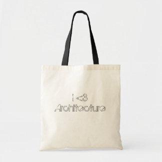 I love Architecture tote bag