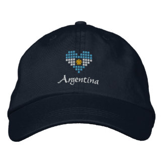 I Love Argentina Cap - Argentinian Flag Hat Embroidered Hat