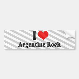 I Love Argentine Rock Bumper Sticker