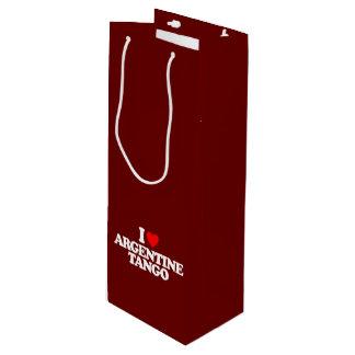 I LOVE ARGENTINE TANGO WINE GIFT BAG