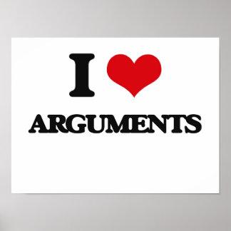 I Love Arguments Print