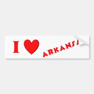 I Love Arkansas Bumper Sticker
