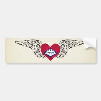 I Love Arkansas -wings Bumper Sticker
