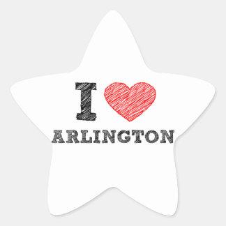 I-Love-Arlington Star Sticker