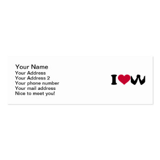 I love Arm wrestling Double-Sided Mini Business Cards (Pack Of 20)