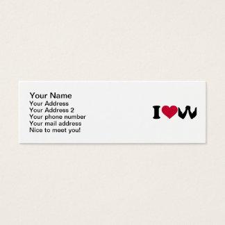I love Arm wrestling Mini Business Card