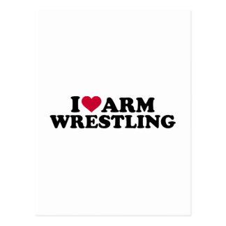 I love Arm wrestling Postcard