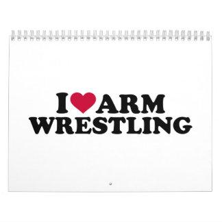 I love Arm wrestling Wall Calendar