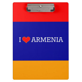 I Love Armenia, flag of Armenia Clipboard