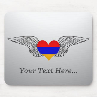 I Love Armenia -wings Mouse Pad