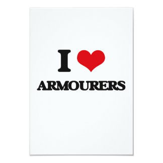 I love Armourers Personalized Invitation