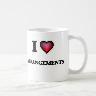 I Love Arrangements Coffee Mug