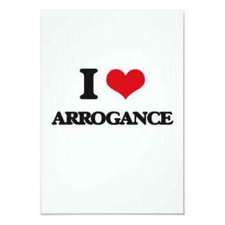 "I Love Arrogance 3.5"" X 5"" Invitation Card"