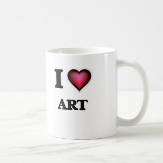 I Love Art Coffee Mug