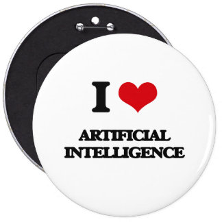 I Love Artificial Intelligence Buttons