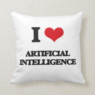 I Love Artificial Intelligence Throw Pillows