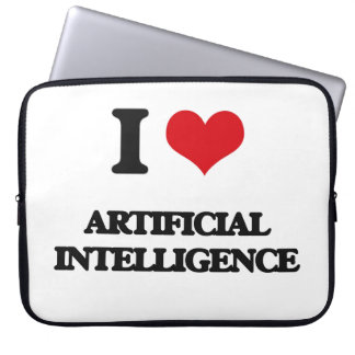 I Love Artificial Intelligence Laptop Computer Sleeve