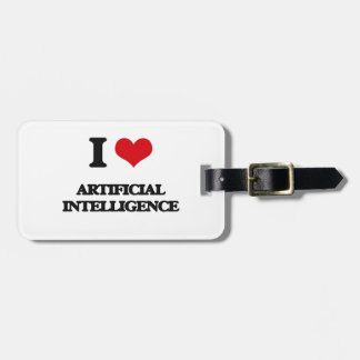 I Love Artificial Intelligence Tag For Luggage