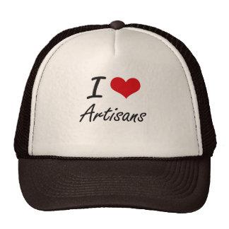 I Love Artisans Artistic Design Cap