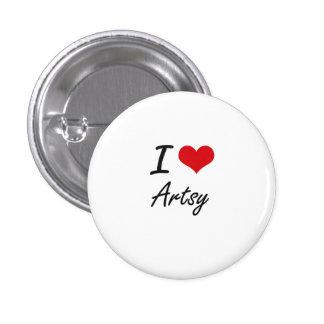 I Love Artsy Artistic Design 3 Cm Round Badge
