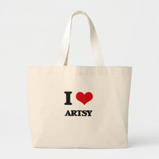 I Love Artsy Canvas Bag