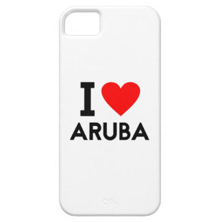 i love Aruba country nation heart symbol text Case For The iPhone 5
