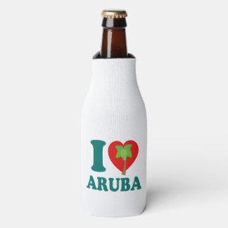I Love Aruba Palm Tree Bottle Cooler