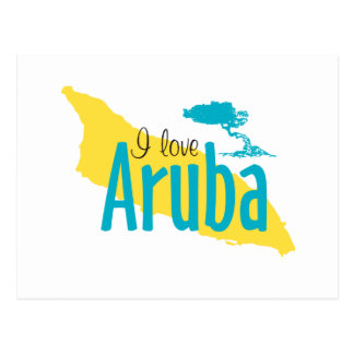 I Love Aruba Postcard