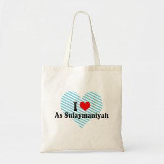 I Love As Sulaymaniyah, Iraq Tote Bag