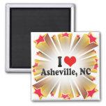 I Love Asheville, NC Refrigerator Magnets