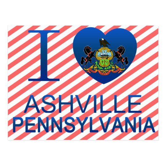 I Love Ashville, PA Postcard