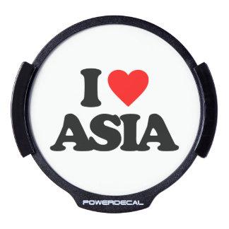 I LOVE ASIA LED CAR DECAL