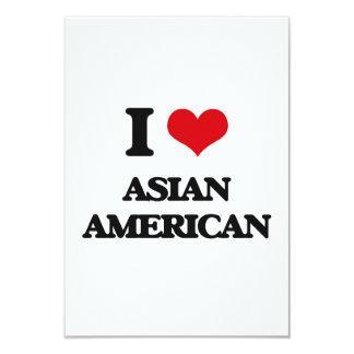 I Love Asian-American 9 Cm X 13 Cm Invitation Card