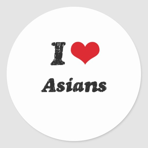 I Love Asians Stickers