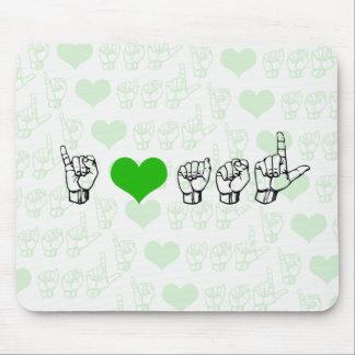 I Love ASL Mousepad