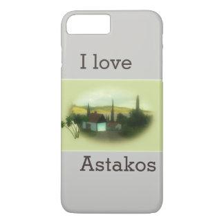 I love Astakos Retro picture landscape iPhone 7 Plus Case