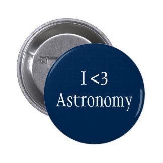 I Love Astronomy 6 Cm Round Badge