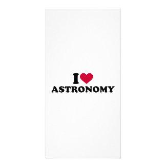 I love Astronomy Customised Photo Card