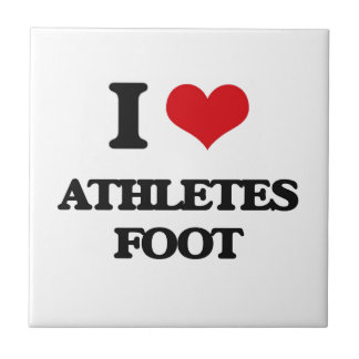 I love Athletes Foot Small Square Tile