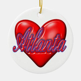 I Love Atlanta Ceramic Ornament