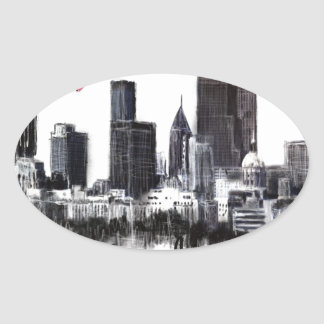 I love Atlanta Oval Sticker