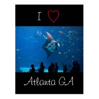 I Love Atlanta Postcard
