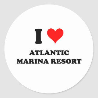 I Love Atlantic Marina Resort Round Stickers