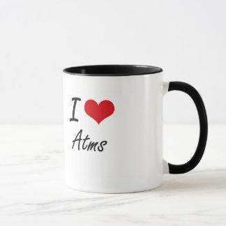 I Love Atms Artistic Design Mug