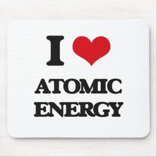 I Love Atomic Energy Mousepads