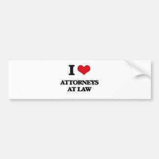 I love Attorneys At Law Bumper Stickers