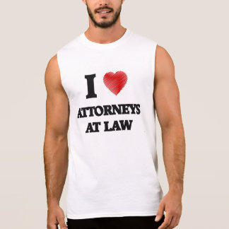 I love Attorneys At Law (Heart made from words) Sleeveless Shirt